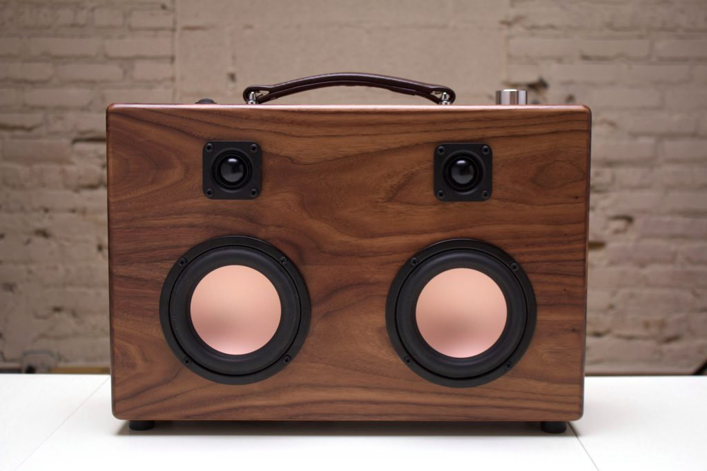The HiFi Case - Walnut Speaker - Modern Boombox